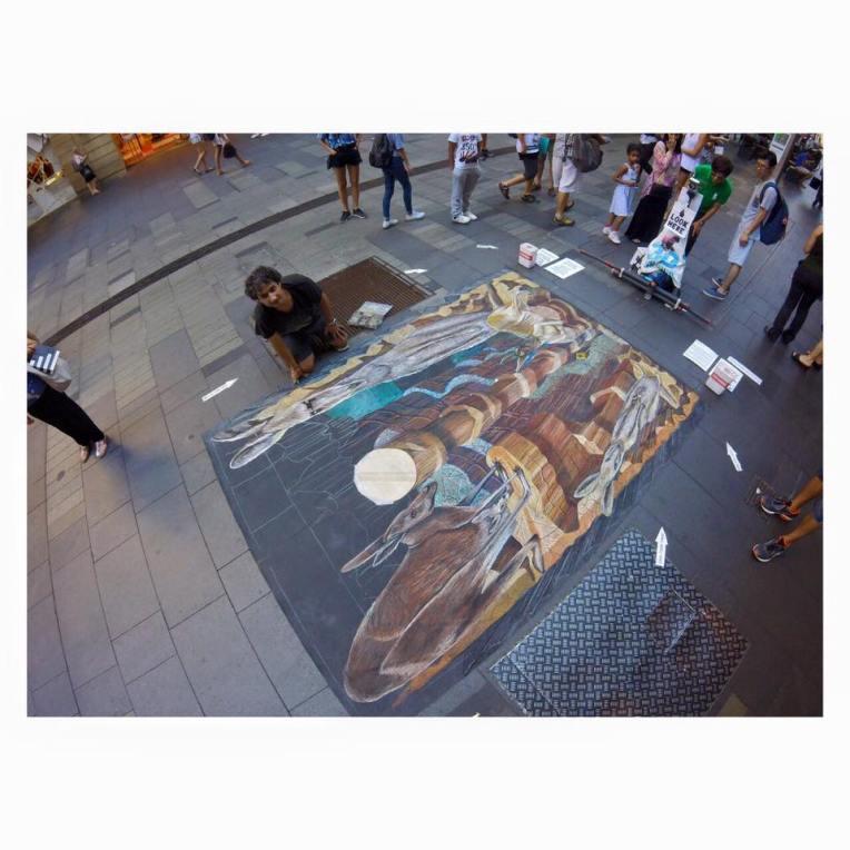 Peeps.of.Sydney Pitt Street Mall Artist