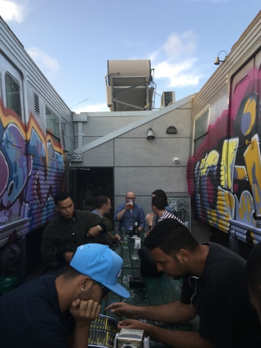 Easey's Tram Burger dining experience