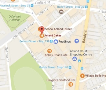acland cakes maps